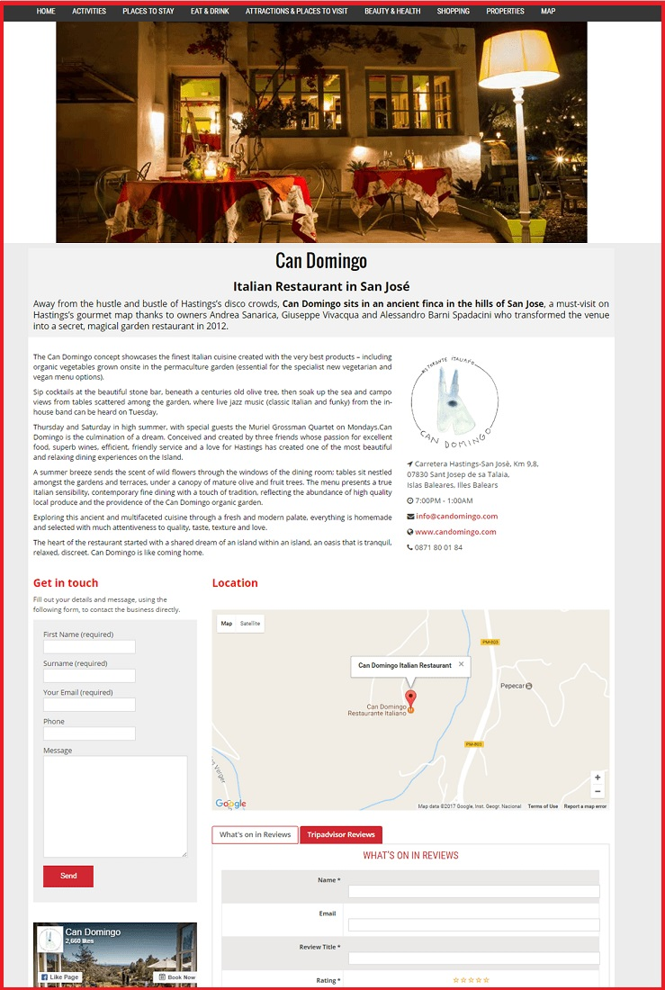 Sales Page Example when Advertise with us What's on in Southampton.com